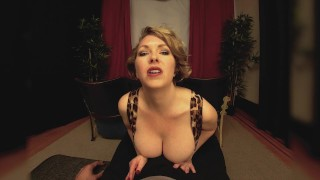 Preview 2 of Big Tits Milf Girlfriend Gives You A Handjob In The Theater