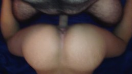 Backing up that tight little wet pussy on daddy's dick