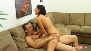 800DAD Trinity St Clair Spinner Pussy rides Thick Cock