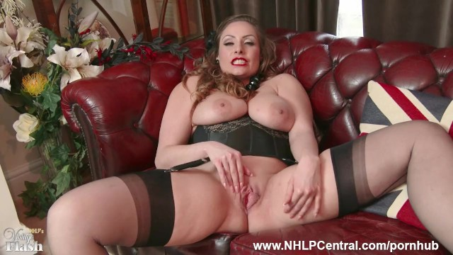 Reinforced heel nylons milf - Natural big tits brunette sophia delane strips to nylons heels and wanks