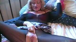 Filthy Grandmother Dps Herself Lingerie lclip