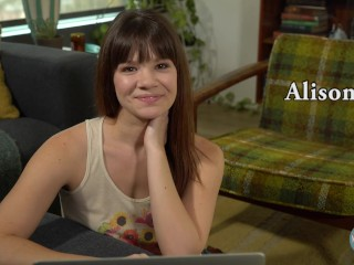 Porn Star Alison Rey Watches Her Own Porn