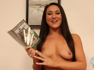 Topless Girls Reading: Throwing Knives