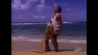 She fucks Peter North at the beach