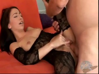 BLOWING A LOAD IN HER RECTUM