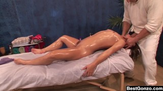 BestGonzo – Teen is slippery wet after erotic oil massage