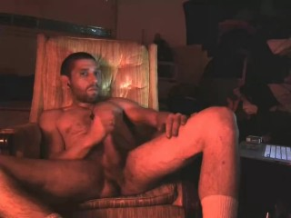 Kicking Back and strocking my cock
