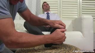Dominant yuppie Cameron Kincade enjoys being foot worshipped Dick dick