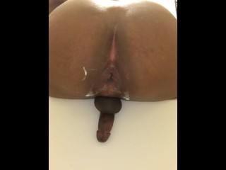 9inch Dildo Pounding In The Bathroom
