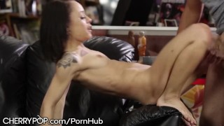 Geeky Teen Spinner Holly Hendrix Assfucked at Work