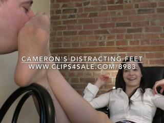 Cameron's Distracting Feet - DreamgirlsClips.com