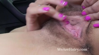 Regina strips nude and masturbates in her car