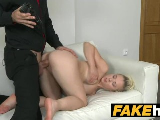 Fake Agent Young perky tits model fucked on the casting couch
