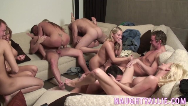 Amateur allure allie - Party game leads to a huge orgy