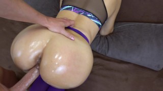 Got creampie my girlfriend in pov her pussy yoga in ripped pants butt cumshot