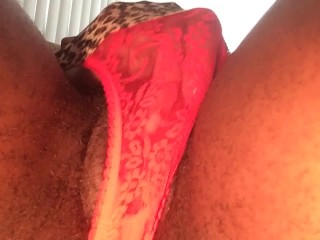 TWO CLIT ORGASMS W/ PANTIES ON