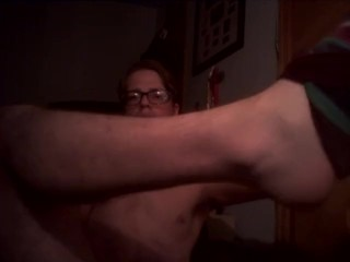 Taking Off Socks After A Long Day And Cumming