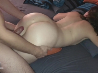 She hates Anal - lol - mega cumshot on her ass - painal