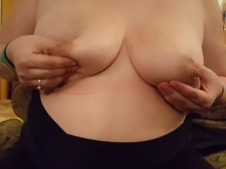 Draining my heavy boobs