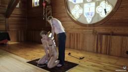 fucking machine in church choir loft