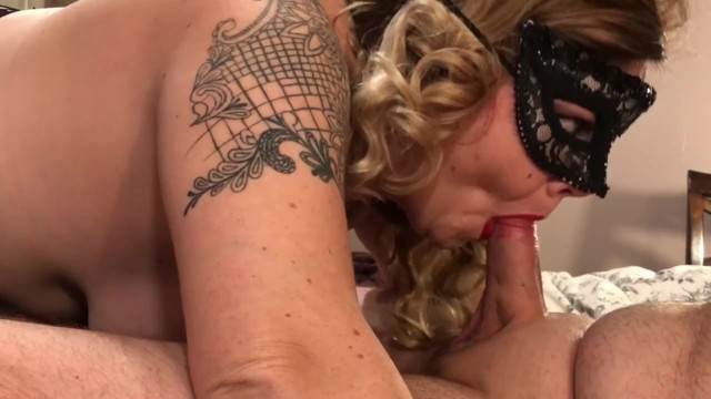 Big cock deep throat choking hot blonde milf