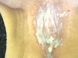Morning dessert-sweet pussy with condensed milk beloved wife(Wife at the Me
