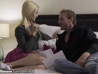 Naughty little Elsa Jean Pounded by her Lovers Man Meat