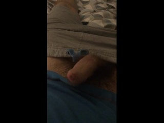 Dick so hard it moves and throbs itself!!