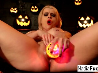 Nadia White Halloween Fun