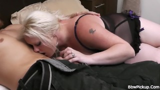 Big tits blonde spreads legs for worker Ass bbw