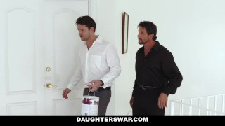 Tricked their a for daughterswap by treat daughters dads channing group