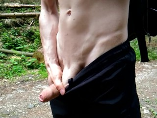 ME PISSING pee piss public TEEN VERY NICE BOY with BIG DICK