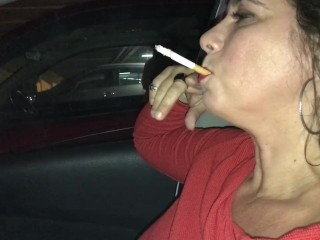 Cigar in the car