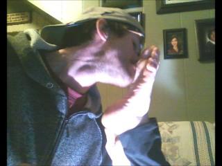 Wrinkle soles toe point perfect feet worship deep licking self worshipTgirl