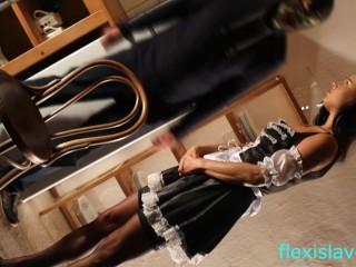 BDSM model Alex Zothberg punished as a maid