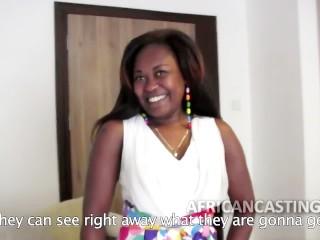 African slut at casting call...