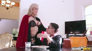 BANGBROS Halloween Threesome with MILF Brandi Love and Teen Kenzie Reeves