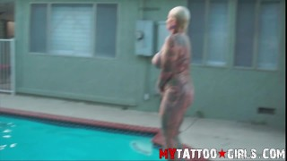 Pool Time With BlackWidow Blowjob miley