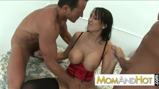 Preview 4 of MFM threesome with hot MILF