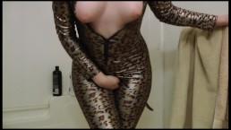 Desperate Holding & Wetting my Kitten Costume