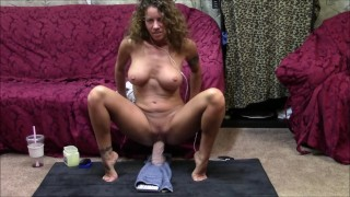 Preview 6 of Face to face dildo ride session. Watch me ride as I watch you stroke to me.