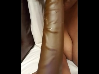 After he fucked me with a 10 inch dildo daddy wouldn't let me suck his dick