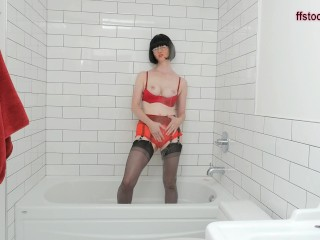 FFstockings - Soaked Soapy and See Through