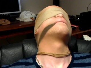 POV blowjob for tied up guy