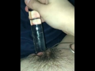 Girl plays with wet pussy