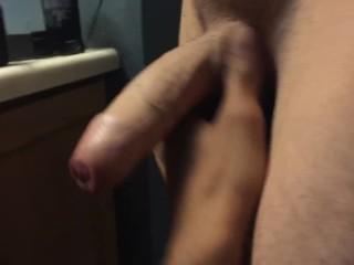Appreciating this boys fat uncut cock