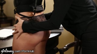 Boss slutty dress o'neil punished by for april lesbian eating hairy