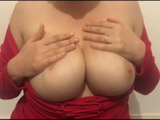 Hot Wife Plays With Pussy And Tits On Video Call