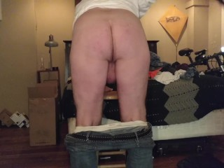 Self Spanking with a belt