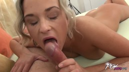 Vinna Reed get loads of cum on her hot belly when fuck first time for cam
